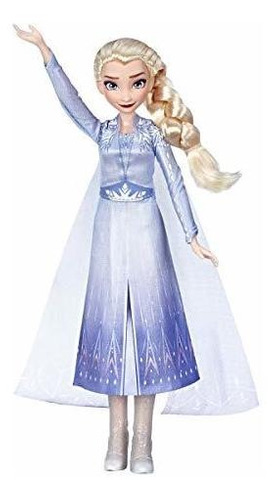 Imagen 1 de 5 de Disney Frozen Cantando Elsa Fashion Doll Con Musica Con Un