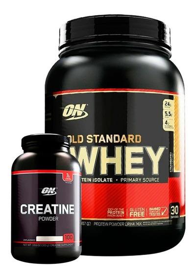 Whey Gold Standard 2 Lb + Creatina Black Optimum