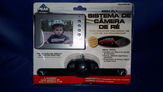 Câmera De Ré Com Monitor Colorido Lcd De 3,5 Polegadas