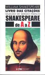 Livro Das Citações - Shakespeare De A A Z