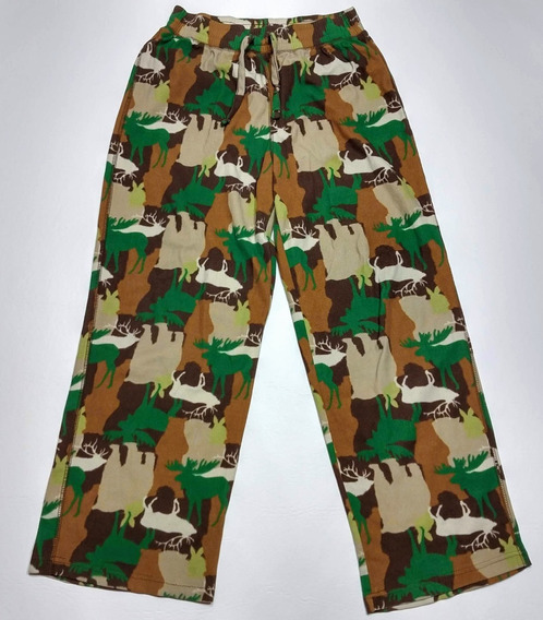 Pantalon Pijama Camuflado Ciervos Talle Xl Mujer