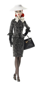 Barbie Collector Silkstone Black White Tweed Suit - Mattel