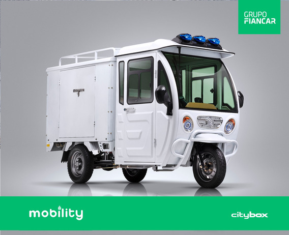 Mobilty Citybox - Triciclo Eléctrico Furgón Con Batería