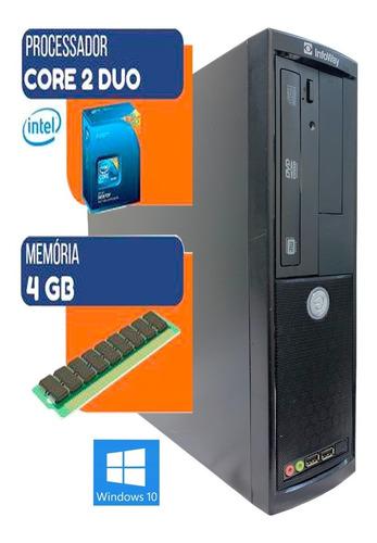 Pc Computador Cpu Core2duo 8400 + Hd 250gb + 4gb Memória Ram