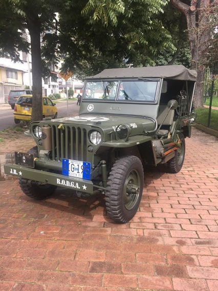 Jeep Willys, 2 Puertas, Carpado , Antiguo Verde Militar