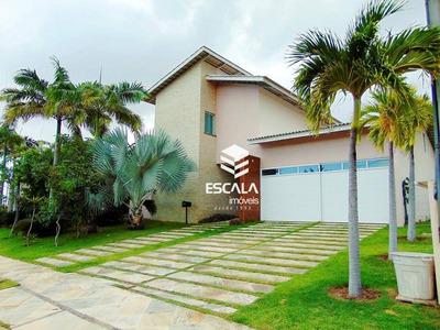 Casa Com 5 Quartos À Venda, 692 M², Gabinete, 4 Vagas - Condomínio Alphaville Fortaleza Residencial - Eusébio/ce - Ca0208