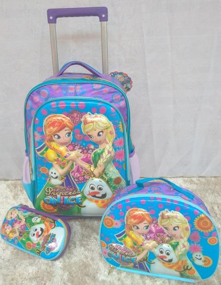 Mochila Escolar-kit Frozen 3 Peças-vozz