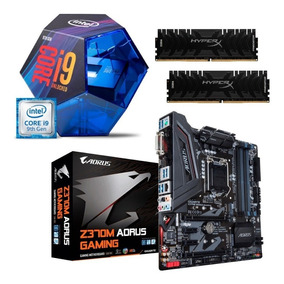 Kit Intel Core I9 9900k Aorus Z370m Gaming 2x 16gb Pdt I