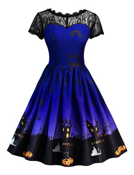 Vestido De Fiesta Tallas Vestido De Vintage De Halloween Mod