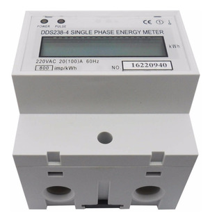 Medidor Consumo Energia Monofásico 220v 100a Wattimetro Ac