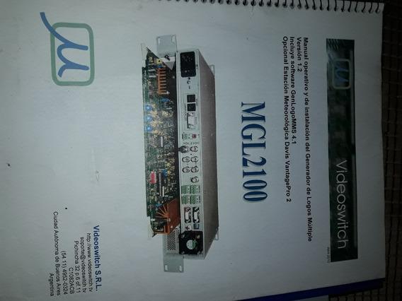 Generador De Caracteres Videoswitch Mgl2100