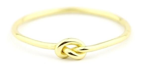 Anel Nozinho Ouro 18k/750 Feminino Delicado