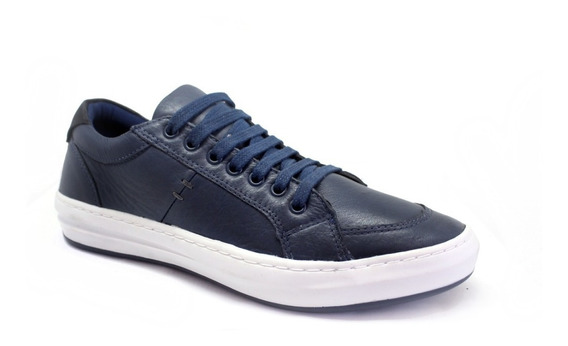 Sapatenis Casual 100% Couro Legitimo Costurado Tchwm Shoes