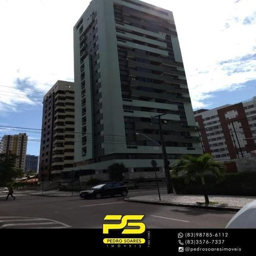 Apartamento Com 4 Dormitórios À Venda, 150 M² Por R$ 510.000 - Manaíra - João Pessoa/pb - Ap3675