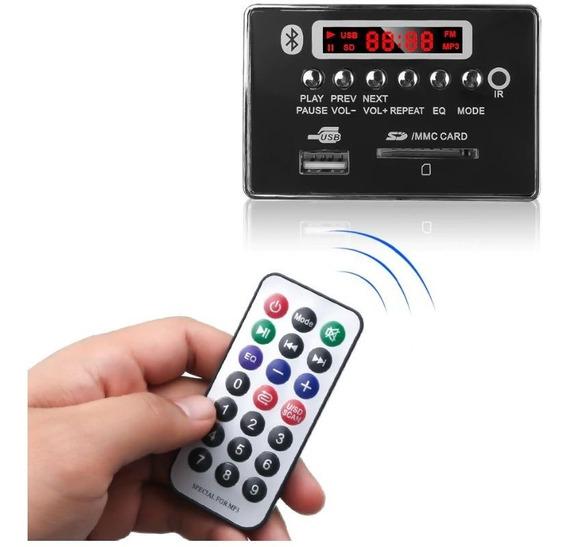 Placa Modulo Leitor Decodificador Usb Mp3 Fm Bluetooth 12v