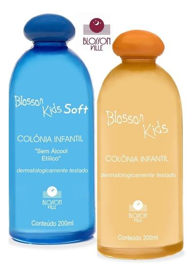 Colonia Infantil Blosson Kids Soft Sem Álcool 200ml + Frutal
