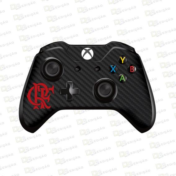 Flamengo - Adesivo Skin Controle Xbox One Carbono Preto