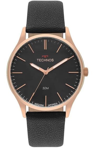Relógio Masculino Technos Classic Steel Couro 2035mqg/2p 12x