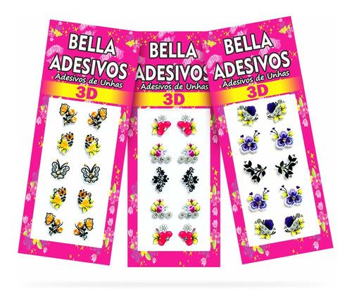 500 Adesivos De Unha Bella Adesivos, 50 Cartelas
