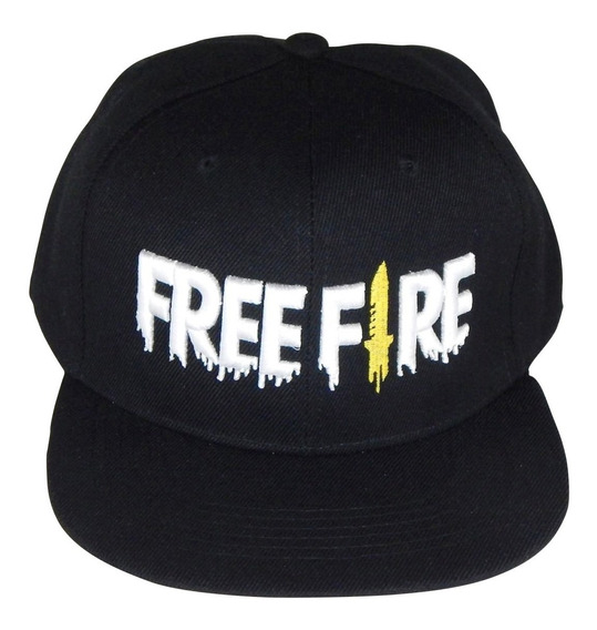 Gorra Free Fire Juego Snapback Moda Gamer Black Bordado 3d