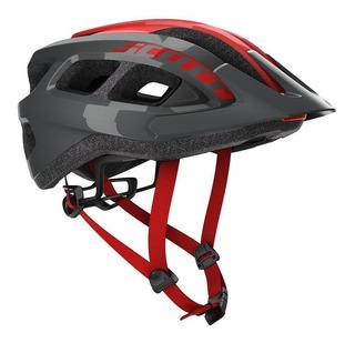 Capacete Bike Ciclismo Mtb Scott Supra 2019 Cinza / Vermelho