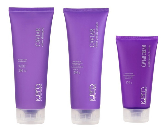 Kit Caviar Color - Shampoo, Condicionador E Caviar Cream Con