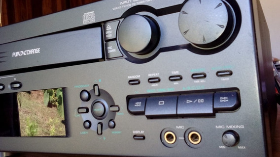 Foto Do Receiver Home Theater Yamaha Emx 200 Vcd