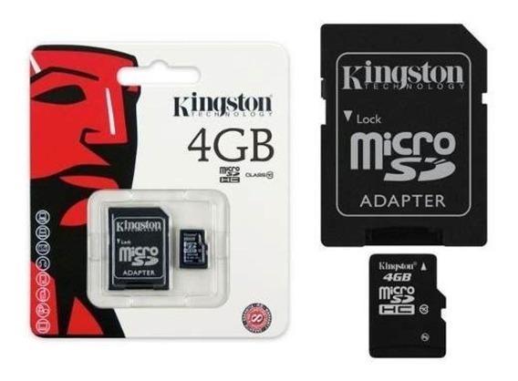 Cartão De Memória Kingston Micro Sdhc 4gb Classe 04