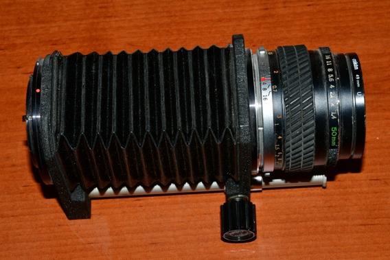 Fuelle C/ Extensión Y Lente 50mm 16-1.4 Para Cámaras Olimpus