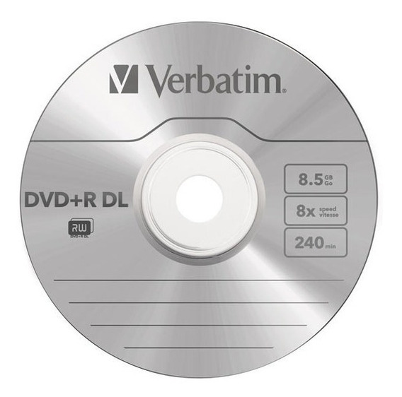 Verbatim Double Layer Dvd+r Dl 8.5gb Pack 4 Discos.