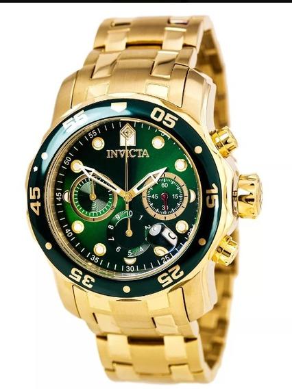 Reloj Invicata Chapa De Oro