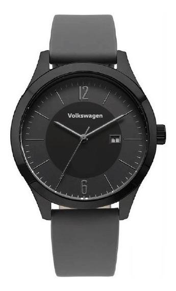 Relógio De Pulso Technos Original Volkswagen Pulseira Couro