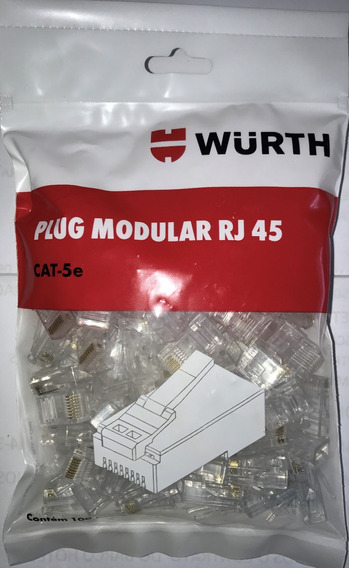 Conector Rj45 Cat-5e - Wurth - O Melhor De Todos - 1000 Pçs