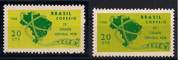 Brasil Variedade - C-607 A - Cor Do Fundo Amarela - Nn