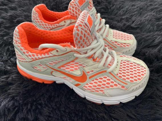 Tenis Nike Branco E Laranja 35 Original Usado