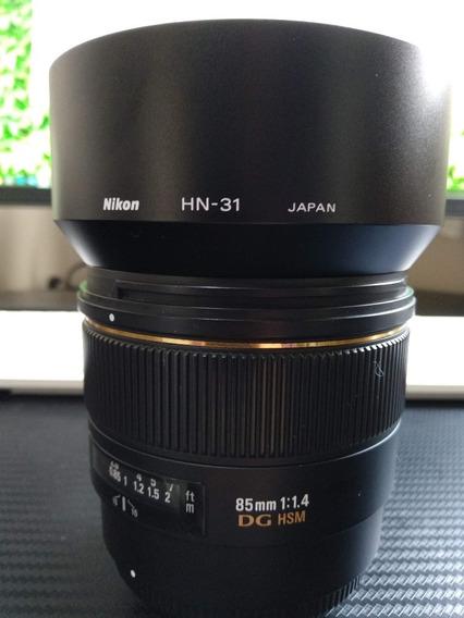 Lente Sigma 85mm 1.4 (sem Ser Art - Nikon)