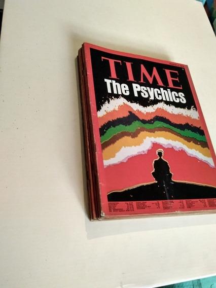 Lote Revista Time 11 Números Anos 1974 Á 1982