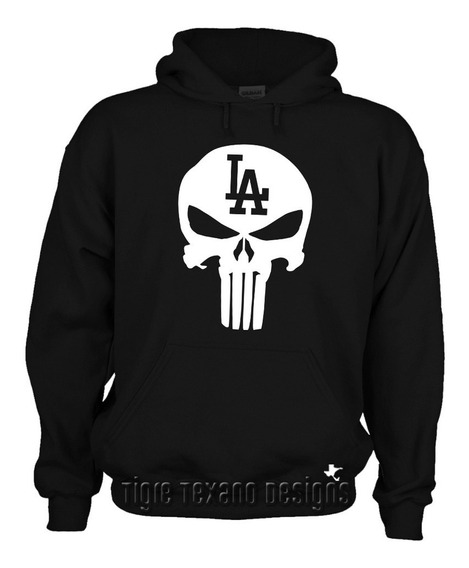 Sudadera Dodgers Los Angeles Punisher Tigre Texano Designs