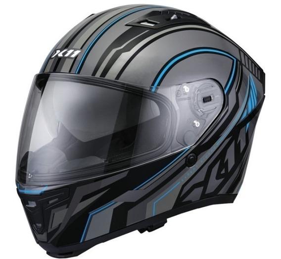 Capacete Moto, X11 Wing C/ Viseira E Óculos Solar, Azul