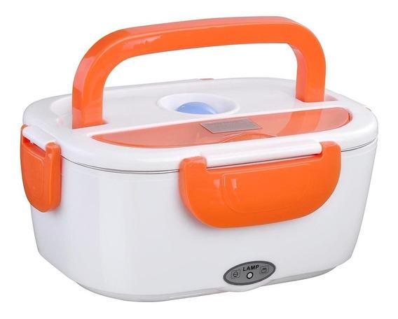 Lonchera Topper Eléctrico Calienta Comida 1.5 Litros Naranja