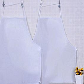 Avental Pvc Branco Panosul Vendido No Pacote Com 6 Aventais
