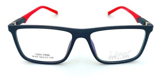 Óculos De Grau Roma Preto - Vermelho