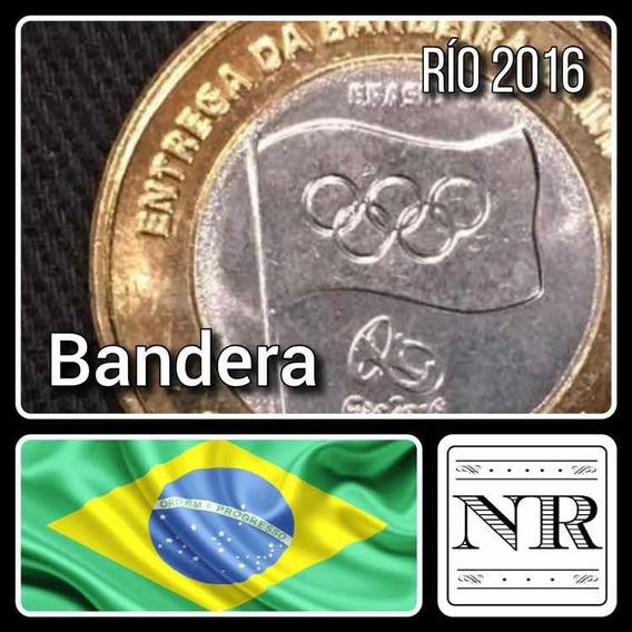 Brasil - Bandera Olimpica - Rio 2016 - Año 2012 - 1 Real