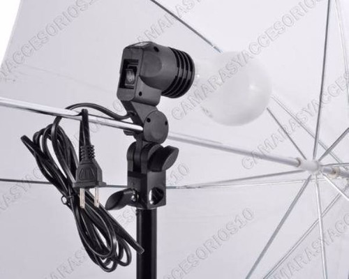 1 Socket Para Usar Bombillo Y Sombrilla Iluminación Vídeo
