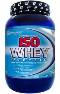 Iso Whey Protein Isolado Morango Performance Nutrition 909g