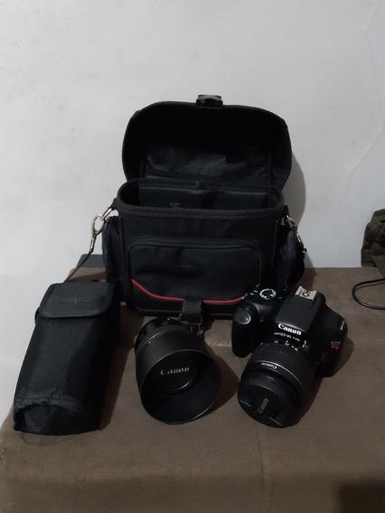 Kit Equipamento Fotográfico Camera Canon T3