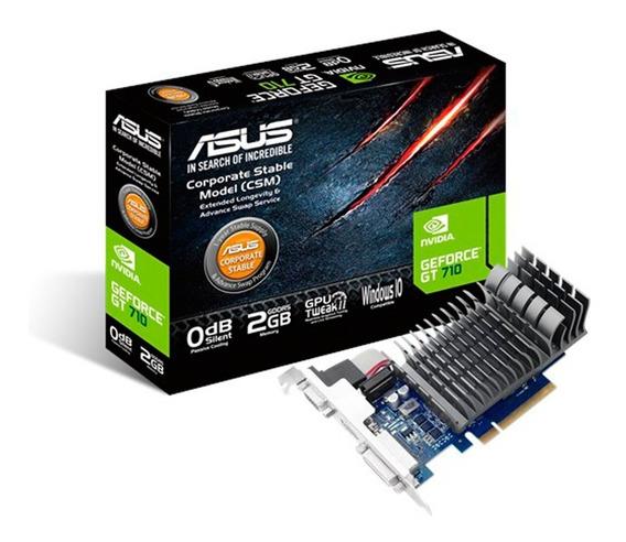 Placa Video Geforce Asus Gt 710 2gb Ddr3 Hdmi Vga Dvi Mexx 2