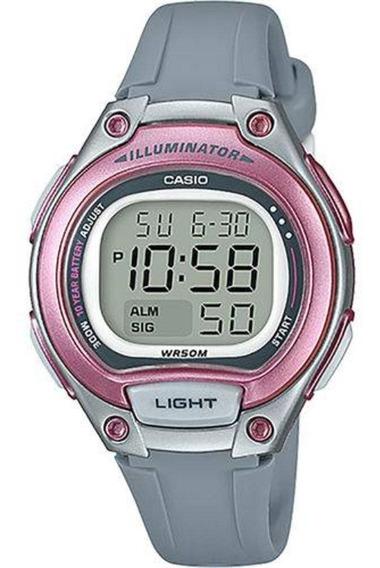 Relógio Feminino Casio Digital - Lw2038avdf - Cinza/rosa