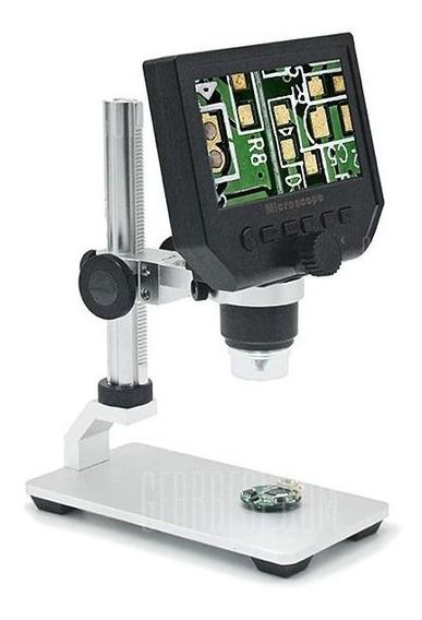 Microscópio Digital Lcd Xsc G600 3.6mp 600x Base Alumínio