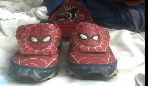 Zapato Spiderman Con Luces - Marvel Original Talla:30eu/12us